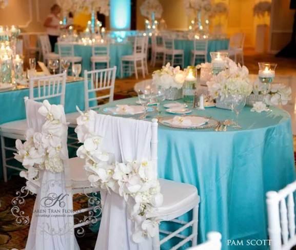 Decoration marriage en bleu roi diamond